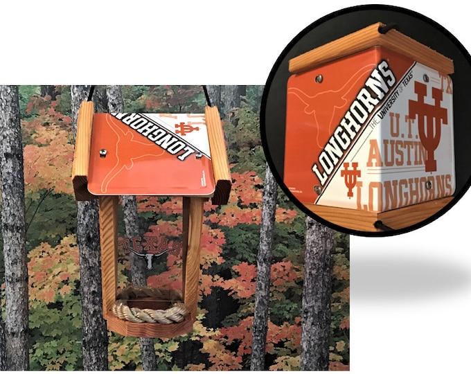 Texas Longhorns Two-Sided Cedar Bird Feeder (SI Series)