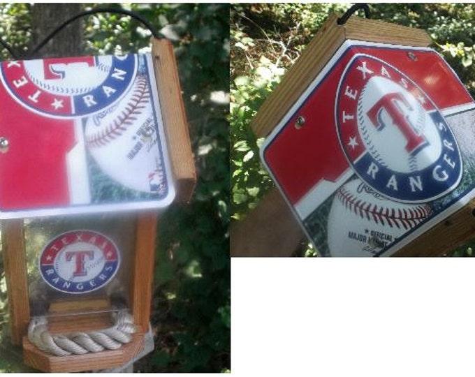 Texas Rangers Two-Sided Cedar Bird Feeder