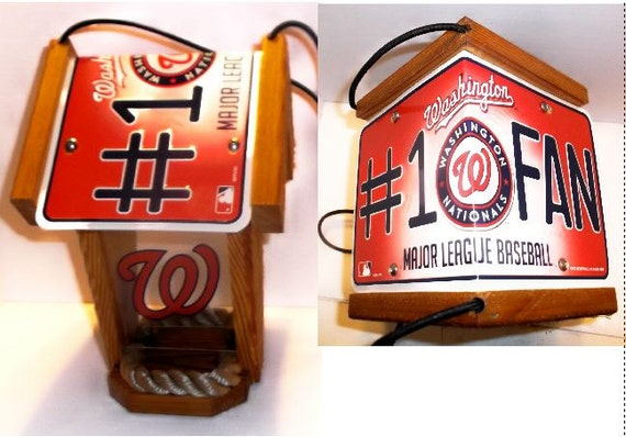 Washington Nationals #1 Fan Two-Sided Cedar Bird Feeder