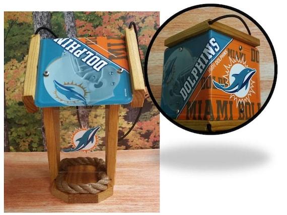 Miami Dolphins Two-Sided Cedar Bird Feeder (SI series)