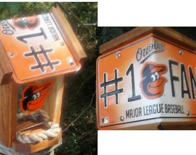 Baltimore Orioles #1 FanTwo-Sided Cedar Bird Feeder