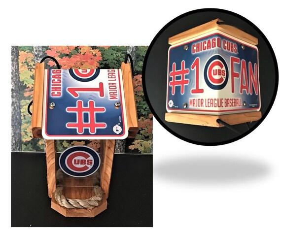 Chicago Cubs #1 FanTwo-Sided Cedar Bird Feeder