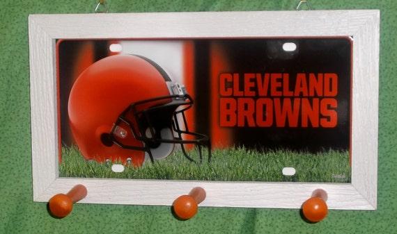 Cleveland Browns License Plate Peg Hanger
