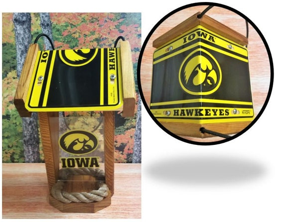 Iowa Hawkeyes Two-Sided Cedar Bird Feeder