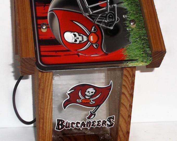 Tampa Bay Buccaneers Two-Sided Cedar Bird Feeder