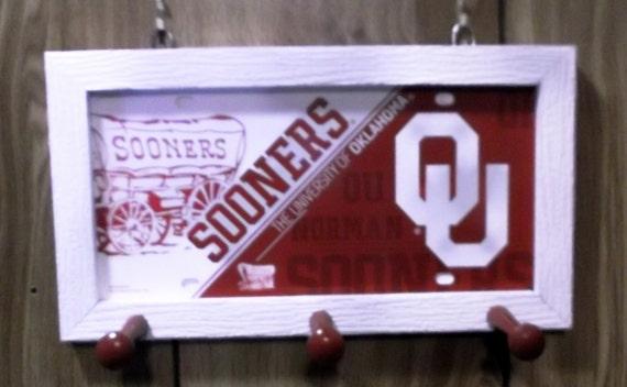 Oklahoma Sooners  License Plate Peg Hanger (SI series)