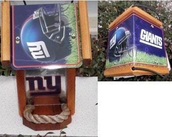 New York Giants Two-Sided Cedar Bird Feeder