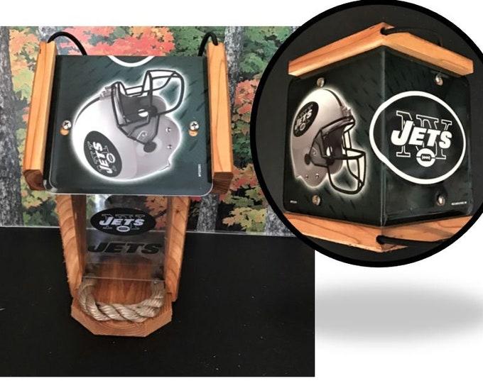 NY Jets Two-Sided Cedar Bird Feeder