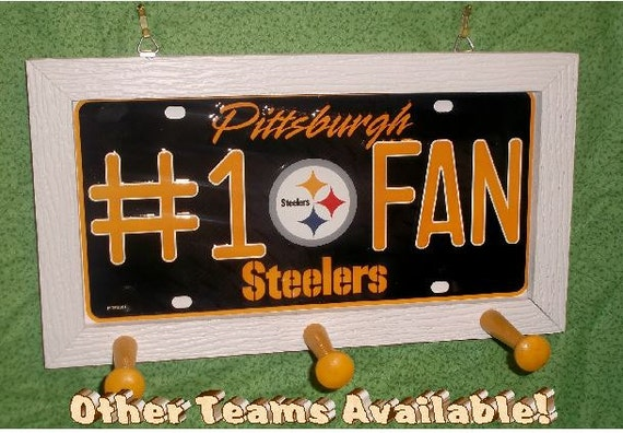 Pittsburgh Steelers #1 Fan License Plate Peg Hanger