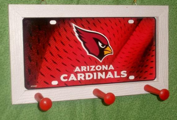 Arizona Cardinals License Plate Peg Hanger