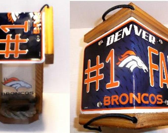 Denver Broncos #1 FanTwo-Sided Cedar Bird Feeder