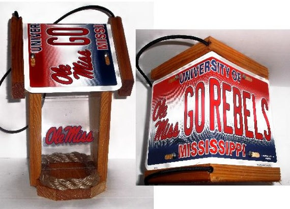Ole Miss University Two-Sided Cedar Bird Feeder