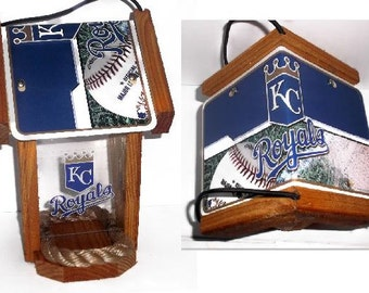 Kansas City Royals Two-Sided Cedar Bird Feeder