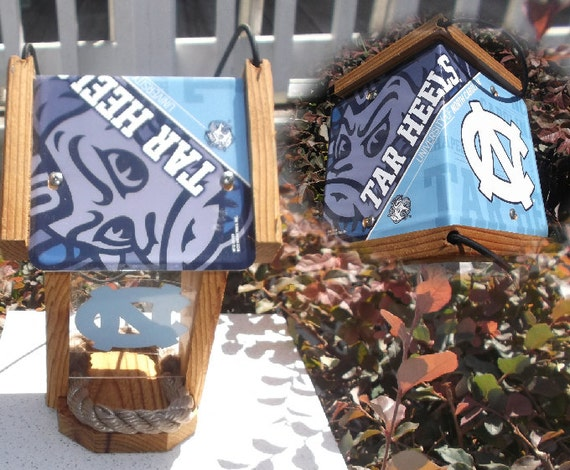 NC Tar Heels  Two-Sided Cedar Bird Feeder (SI Series)