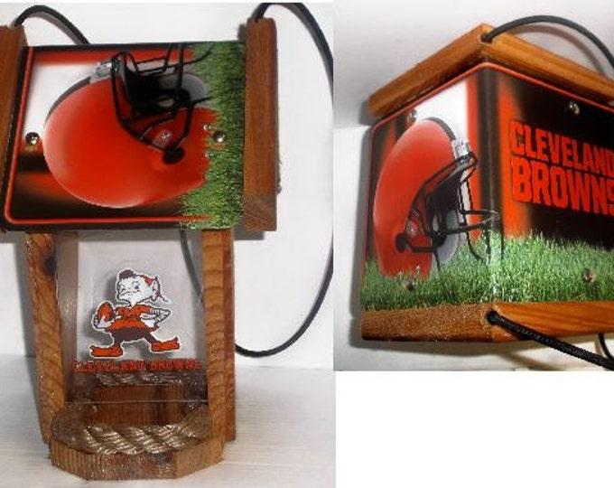 Cleveland Browns Two-Sided Cedar Bird Feeder