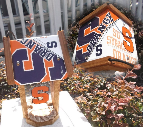 Syracuse University Two-Sided Cedar Bird Feeder (SI Series)