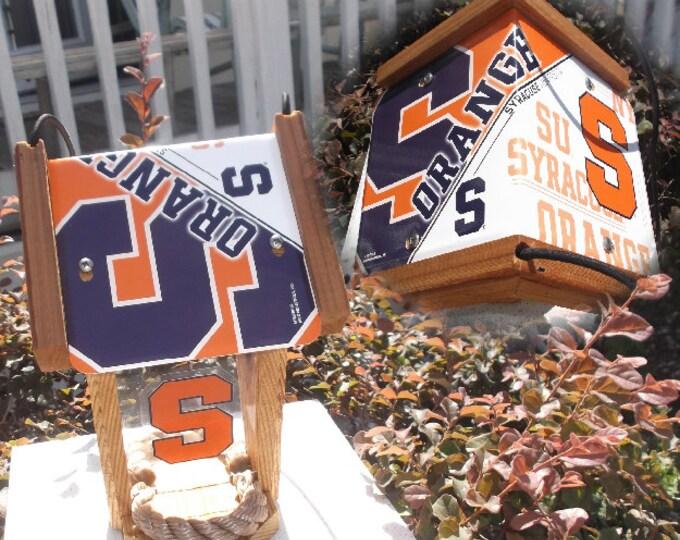 Syracuse University Two-Sided Cedar Bird Feeder (SI Series)