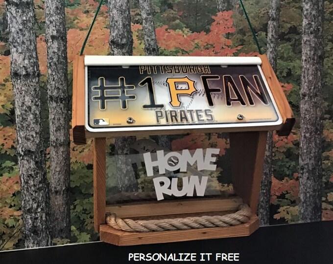 Pittsburgh Pirates #1 Fan Deluxe Cedar Two Sided Bird Feeder