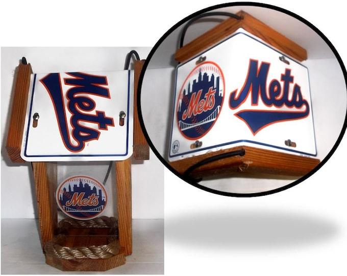 NY Mets Two-Sided Cedar Bird Feeder (Style #2)