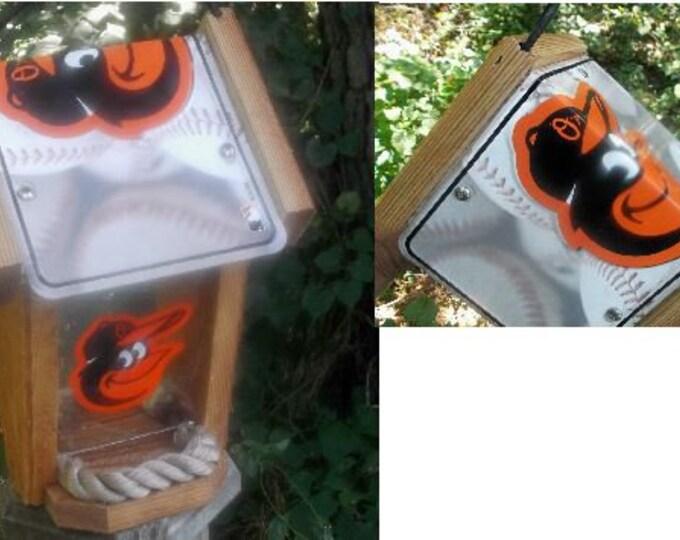 Baltimore Orioles Two-Sided Cedar Bird Feeder