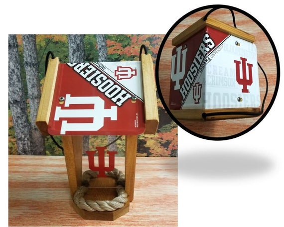 Indiana University Hoosiers Two-Sided Cedar Bird Feeder (SI series)