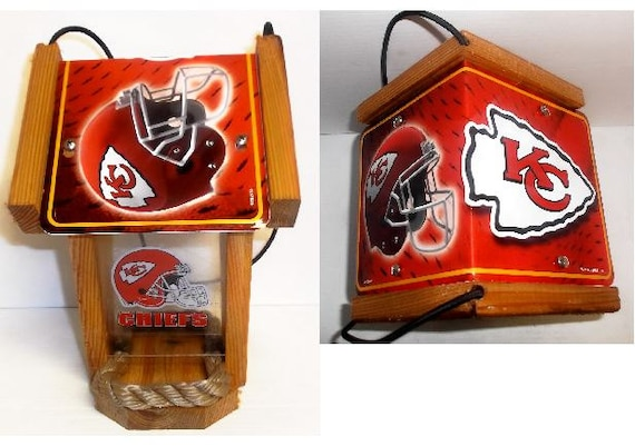 Kansas City Chiefs Two-Sided Cedar Bird Feeder