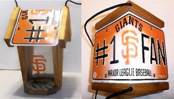San Francisco Giants #1 Fan Two-Sided Cedar Bird Feeder