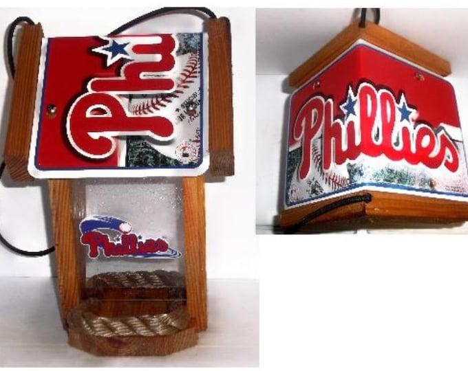 Philadelphia Phillies Two-Sided Cedar Bird Feeder