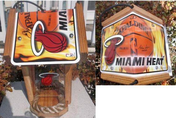 Miami Heat Cedar Two Sided Bird Feeder