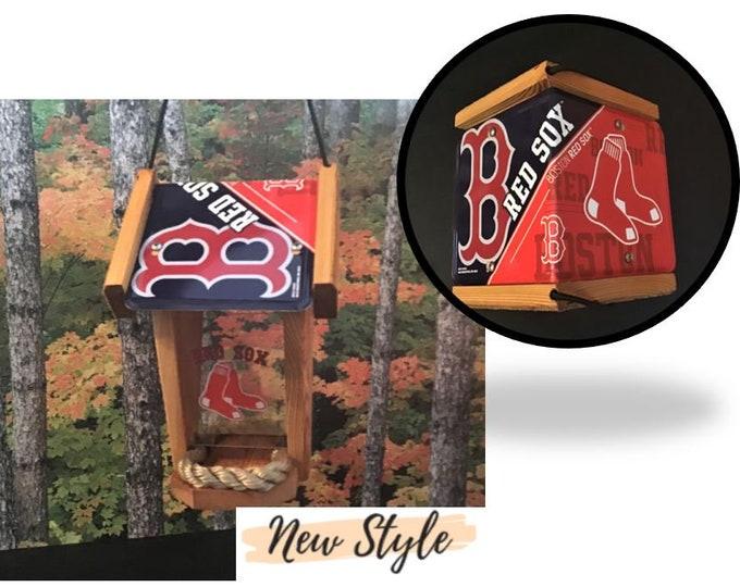 Boston Red Sox Two-Sided Cedar Bird Feeder (SI Series)