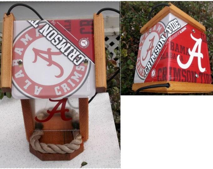 Alabama University (Bama) Two-Sided Cedar Bird Feeder (SI Series)
