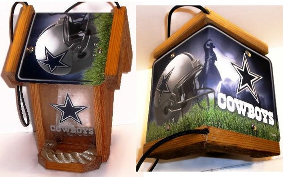 Dallas Cowboys Two-Sided Cedar Bird Feeder