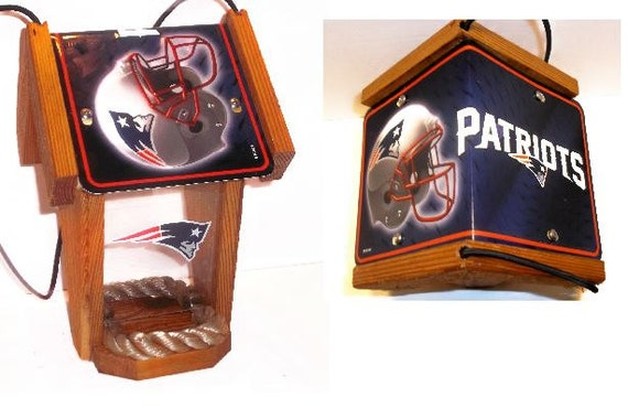 New England Patriots Two-Sided  Cedar Bird Feeder