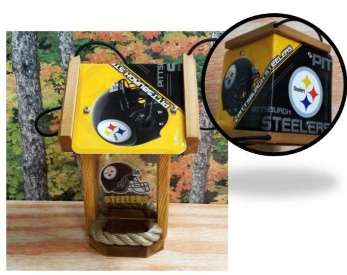 Pittsburgh Steelers Two-Sided Cedar Bird Feeder (SI series)