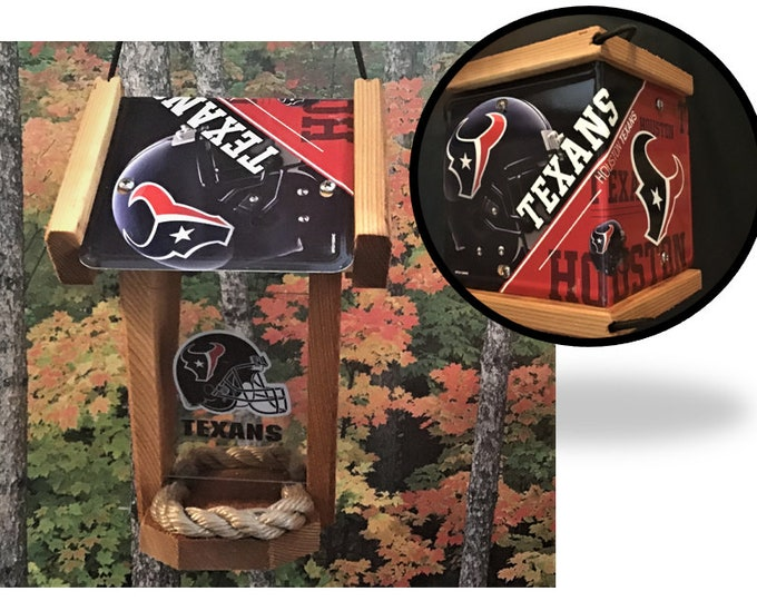 Houston Texans Two-Sided Cedar Bird Feeder (SI Series)
