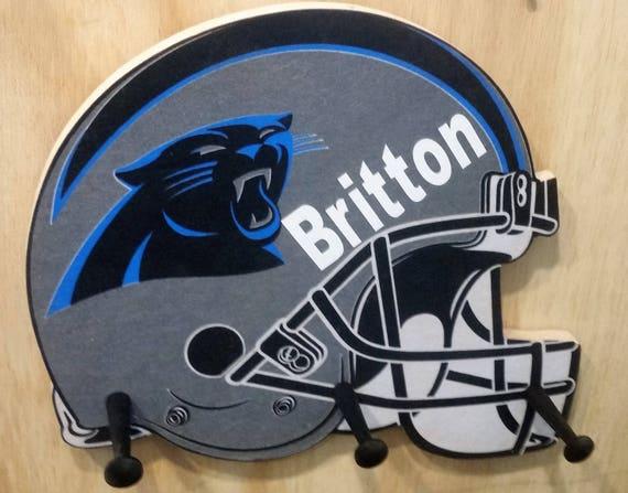 Personalize Carolina Panthers Cap & Jacket Peg Hanger
