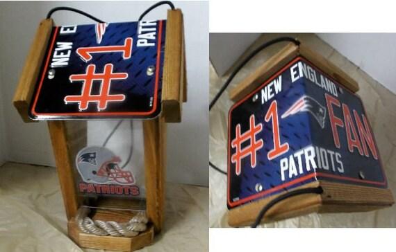 New England Patriots #1 Fan Two-Sided  Cedar Bird Feeder