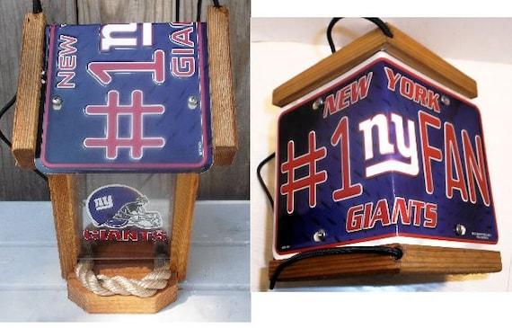 New York Giants #1 Fan Two-Sided Cedar Bird Feeder
