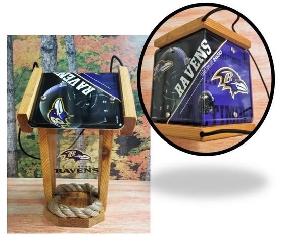 Baltimore Ravens Two-Sided Cedar Bird Feeder (SI series)