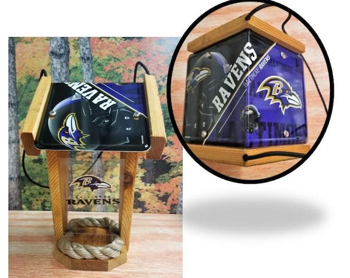 Baltimore Ravens Two-Sided Cedar Bird Feeder (SI series)