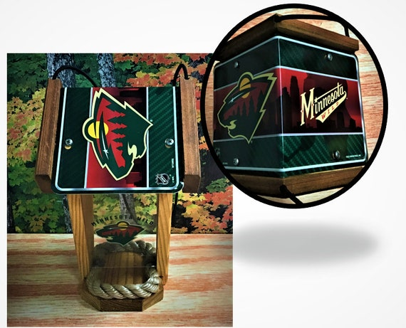 Minnesota Wild Two-Sided Cedar Bird Feeder
