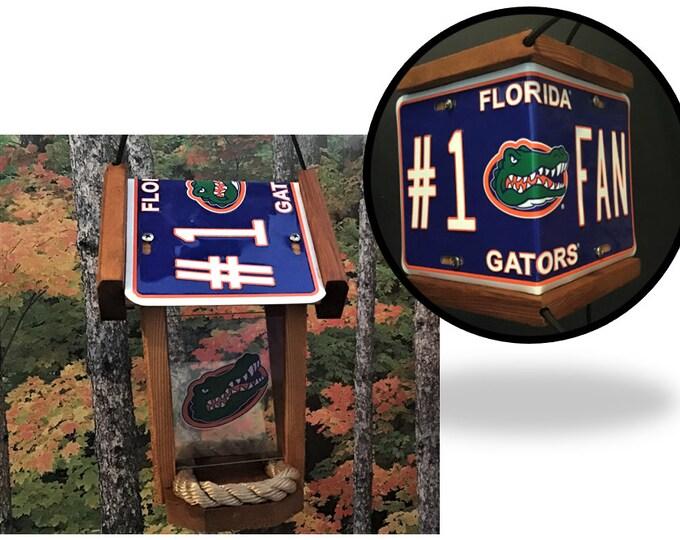 Florida Gators #1 Fan Two-Sided Cedar Bird Feeder