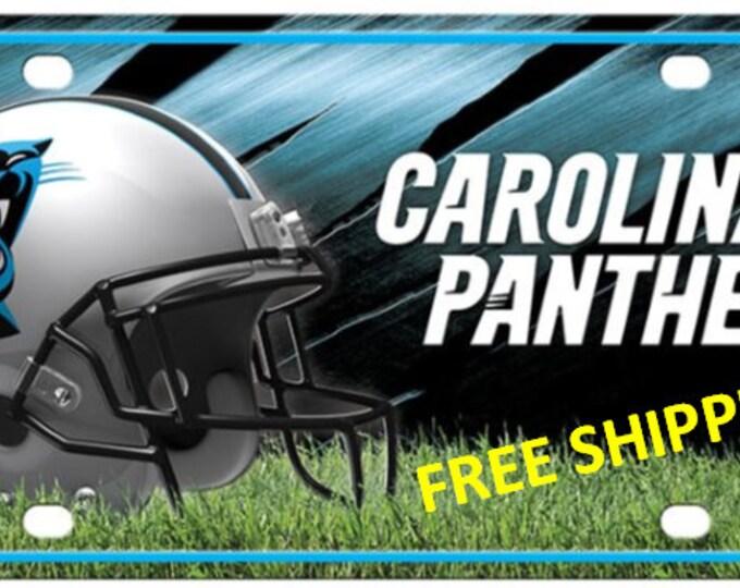 Carolina Panthers Metal License Plate
