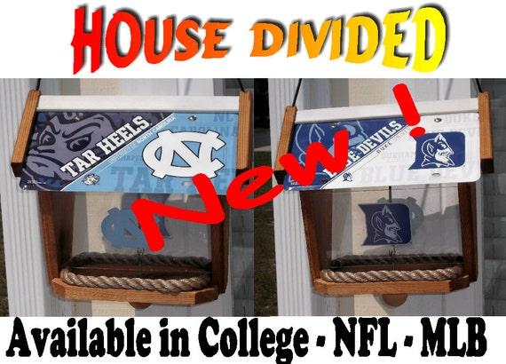 House Divided Cedar Bird Feeder (Available in College-NFL-MLB)