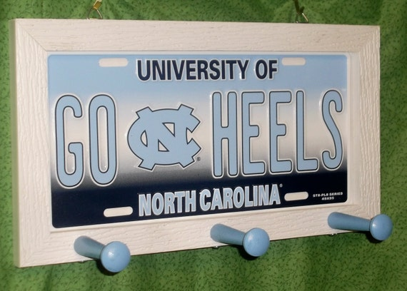 Carolina Tar Heels License Plate Peg Hanger