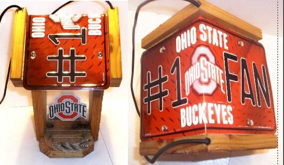 Ohio State #1 Fan Two-Sided Cedar Bird Feeder