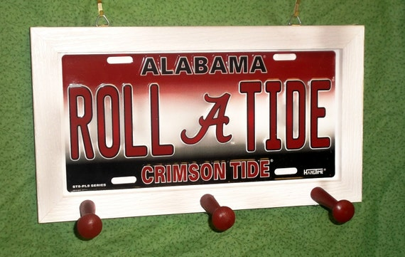 Alabama University License Plate Peg Hanger