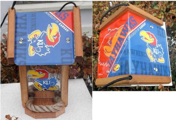 Kansas Jayhawks Two-Sided Cedar Bird Feeder (SI Series)