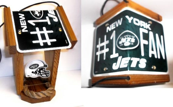 NY Jets #1 Fan Two-Sided Cedar Bird Feeder