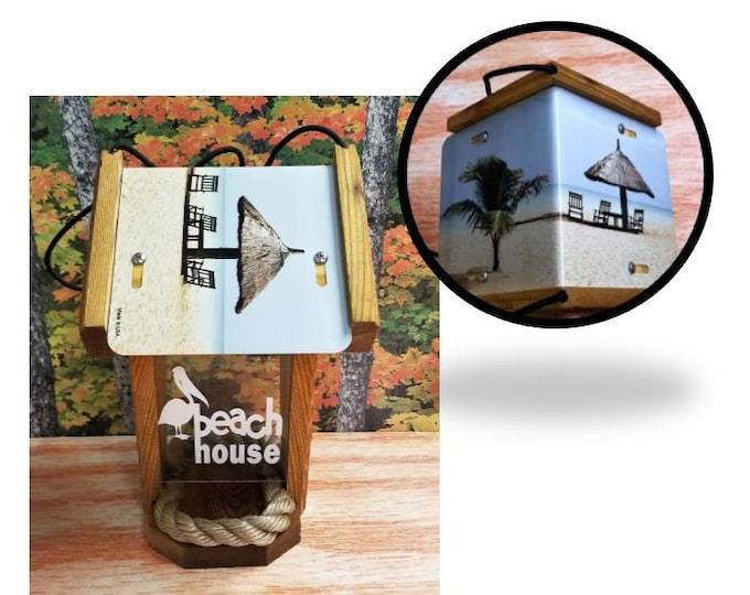 Beach House two sided cedar bird feeder